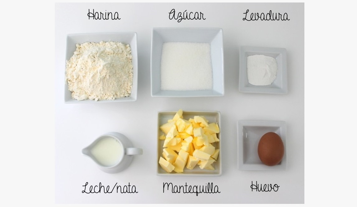 ingredientes receta shortcake