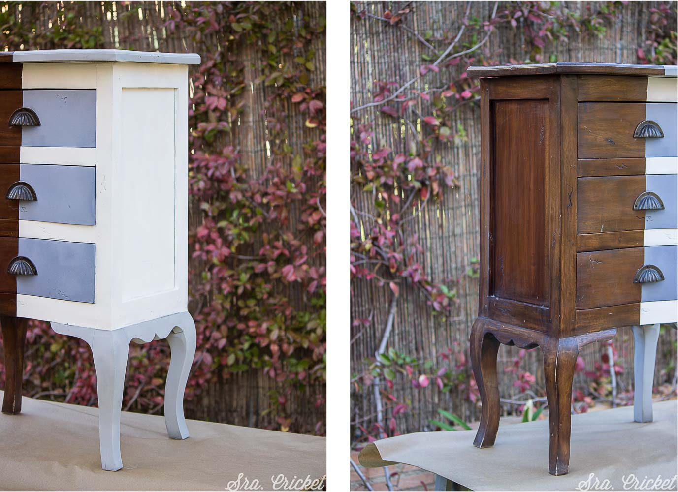 Pintar un mueble con chalk paint en spray en solo media hora for Muebles restaurados antes y despues