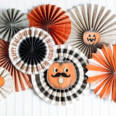 decoration halloween fiesta abanicos