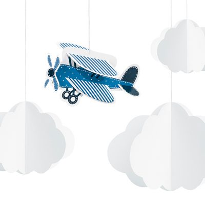 nubes de papel decoración