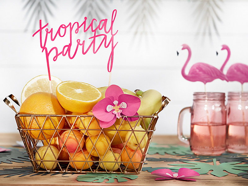 topper texto troquelado Tropical party