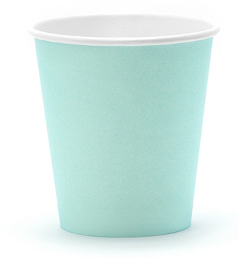 vasos papel color menta